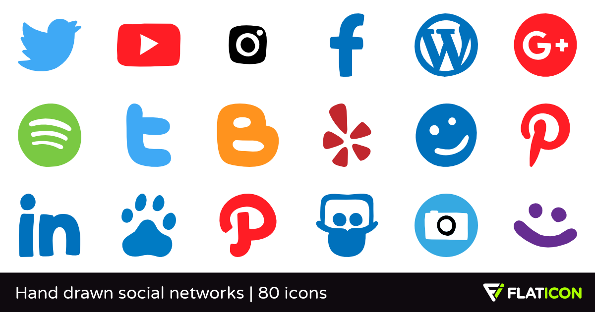 Social networking sites icons clipart clip art download Hand drawn social networks 79 free icons (SVG, EPS, PSD, PNG ... clip art download