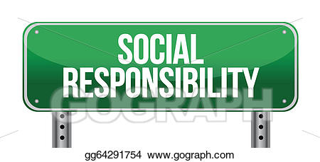 Social responsibility clipart jpg freeuse stock EPS Vector - Social responsibility road sign. Stock Clipart ... jpg freeuse stock