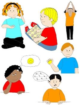 Social skills clipart clip art free Kids in Action: Social Skills and Pragmatic Language Visuals 3 Clip Art 48  PNGs clip art free