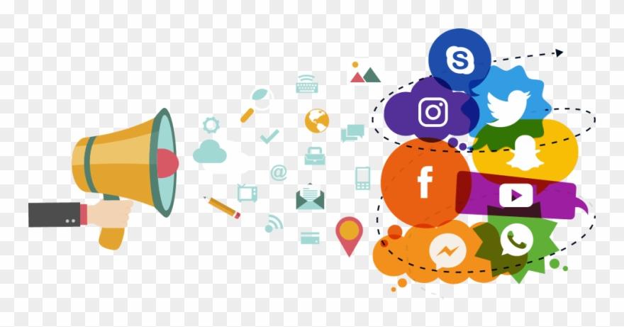 Socila media clipart banner royalty free stock Marketing Clip Art For Print - Social Media Marketing Png ... banner royalty free stock
