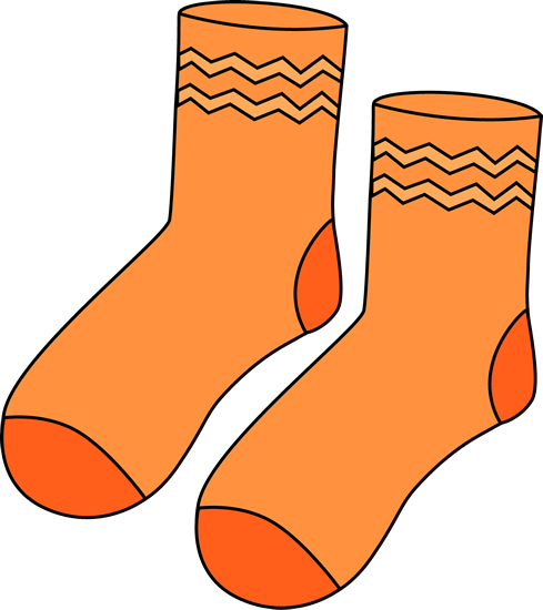 Sock clipart transparent download Pair of Orange Socks | Printable Magnets or Scrap Book ... transparent download