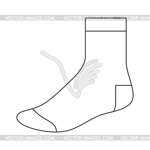 Sock template clipart graphic black and white library Sock template - vector clipart graphic black and white library