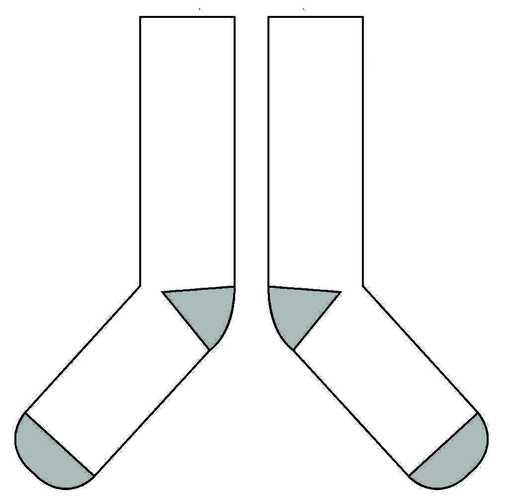 Sock template clipart png stock Sock Templates – Flagpin Products png stock