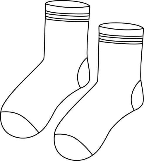 Socks clipart black and white png freeuse stock Socks clipart black and white 3 » Clipart Station png freeuse stock