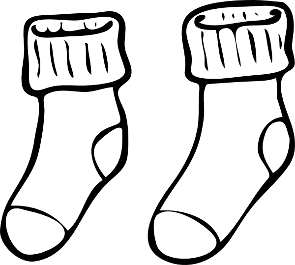 Socks clipart black and white free stock Socks Clip Art at Clker.com - vector clip art online ... free stock