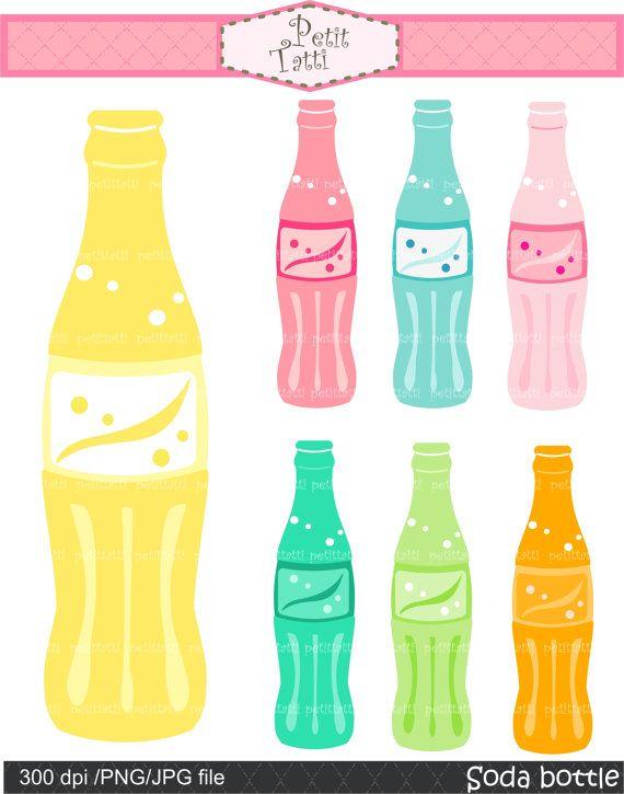 Sodabottle clipart banner download soda pop bottle clip art - party clip art - Digital clip art ... banner download