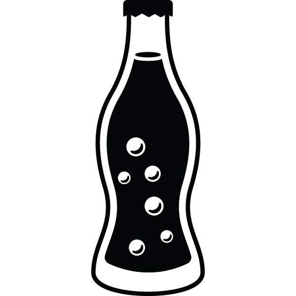 Soda bottle clipart black and white graphic royalty free download Soda Bottle Clipart | Free download best Soda Bottle Clipart ... graphic royalty free download