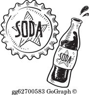 Soda bottle clipart black and white image royalty free Soda Bottle Clip Art - Royalty Free - GoGraph image royalty free