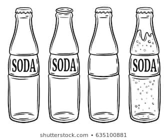 Soda bottle clipart black and white jpg royalty free stock Soda bottle clipart black and white 6 » Clipart Portal jpg royalty free stock