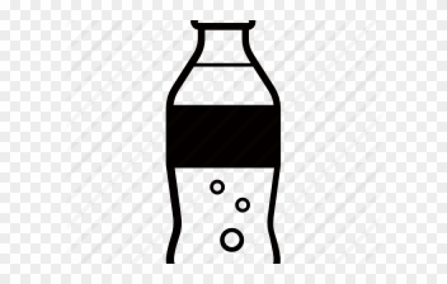 Soda bottle clipart black and white svg black and white Plastic Bottles Clipart Fizzy Pop - Plastic Soda Bottle ... svg black and white