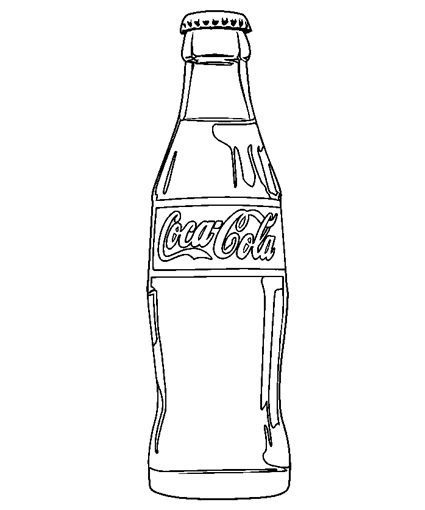 Soda bottle clipart black and white image royalty free Soda Clipart Black And White – Pencil And In Color Soda ... image royalty free