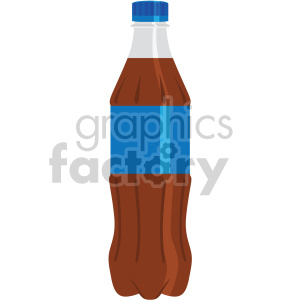 Soda bottles clipart graphic black and white library plastic soda bottle with blue label flat icons . Royalty-free icon # 407129 graphic black and white library
