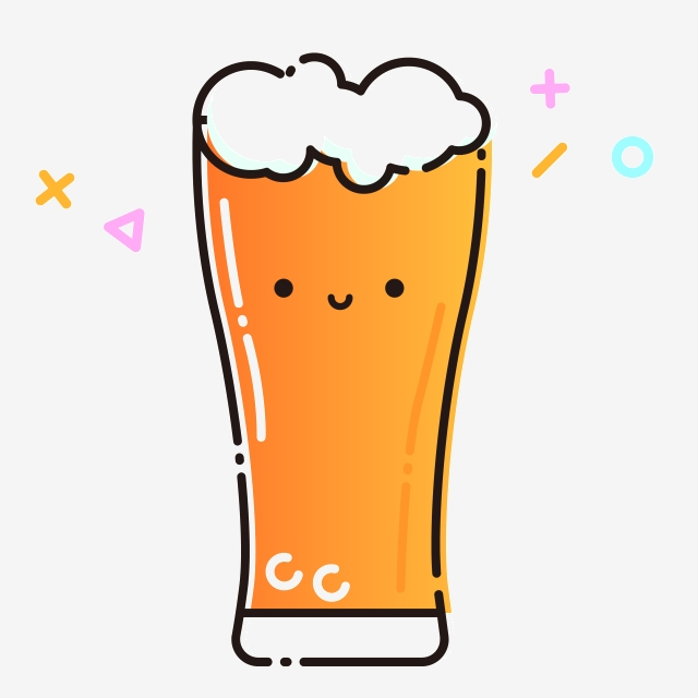 Soda Beer Glass, A Glass Of Wine, Drinks, Yellow PNG ... clip art transparent