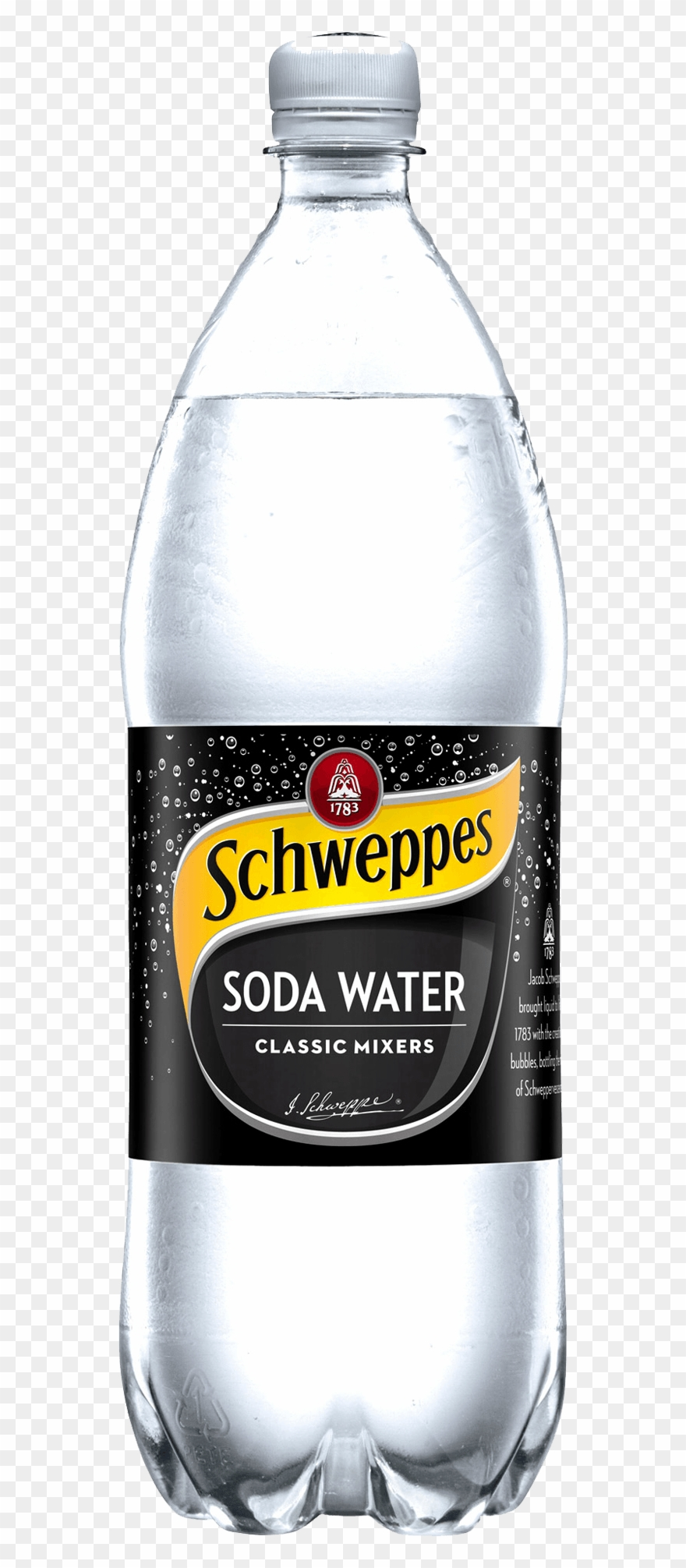 Schweppes Soda Water - Schweppes Soda Water 1.25 L Clipart ... png black and white library