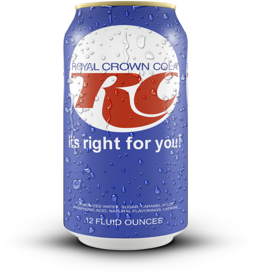 Soda with a crown clipart graphic royalty free library Can of RC Cola (1970s/80s) by FearOfTheBlackWolf on DeviantArt graphic royalty free library