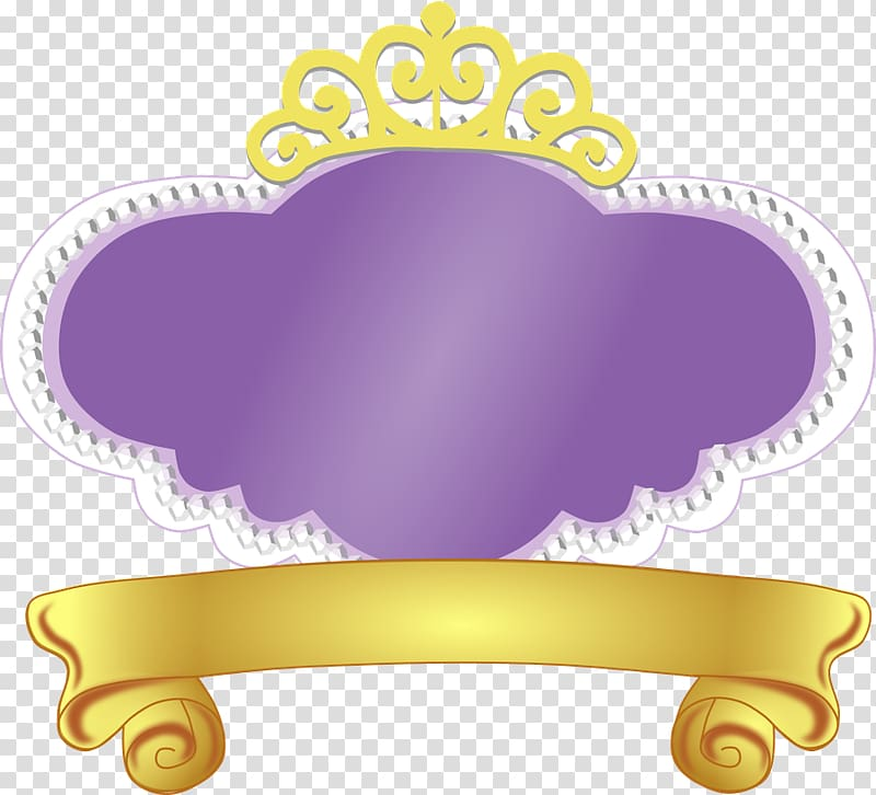 Sofia the first frame clipart png black and white Yellow and purple crown illustration, Logo Disney Princess ... png black and white