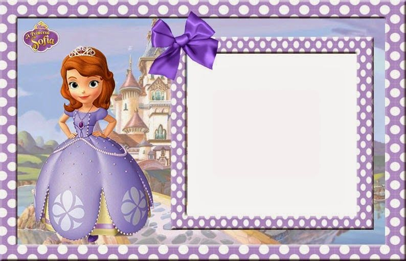 Sofia the first frame clipart clip black and white Sofia the First Free Printable Invitations, Cards or Photo ... clip black and white