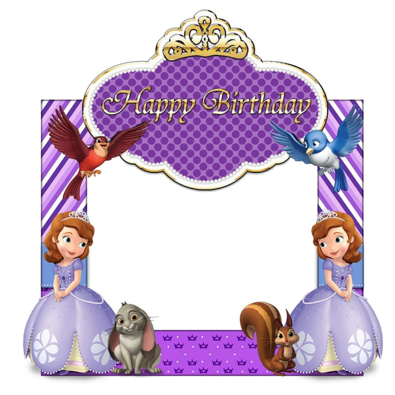 Sofia the first frame clipart png black and white stock Sofia The First Birthday Frame Small Size   Party Box png black and white stock