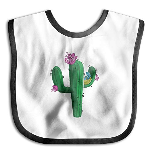 Soft and wet clipart image freeuse download Amazon.com: Vintage Cactus Clipart Teething Bib Comfortable ... image freeuse download