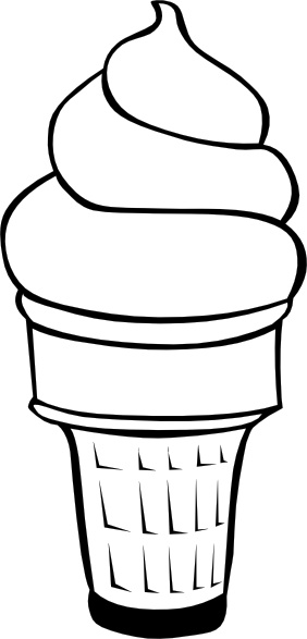 Soft serve clipart picture freeuse library Soft Serve Ice Cream Cone (b And W) clip art Free vector in ... picture freeuse library