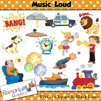 Sounds clipart transparent Music Concepts: Loud sounds Clip art | Music Teaching Unit ... transparent