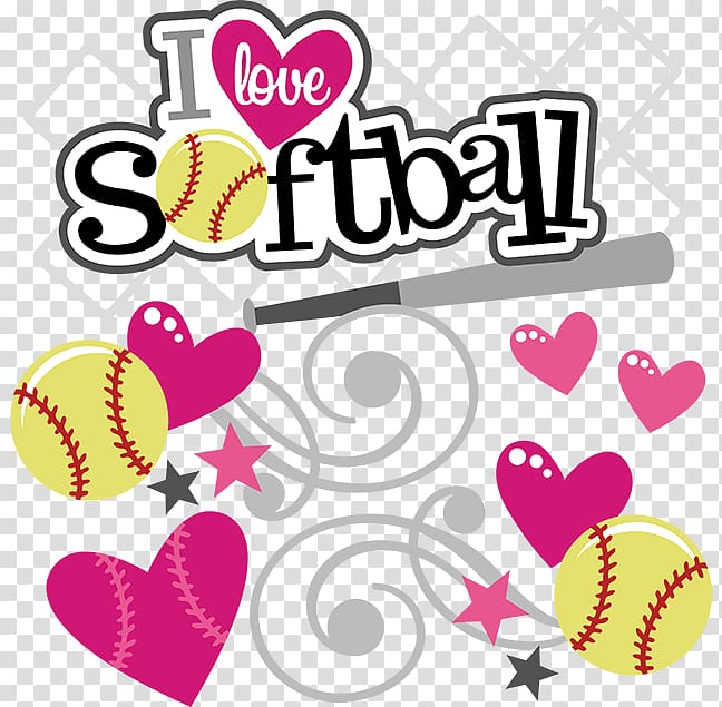 Softball birthday clipart vector black and white download Fastpitch softball Baseball Scalable Graphics , Love ... vector black and white download
