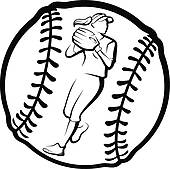 Softball free clipart clipart black and white library Softball Free Clipart | Free download best Softball Free ... clipart black and white library
