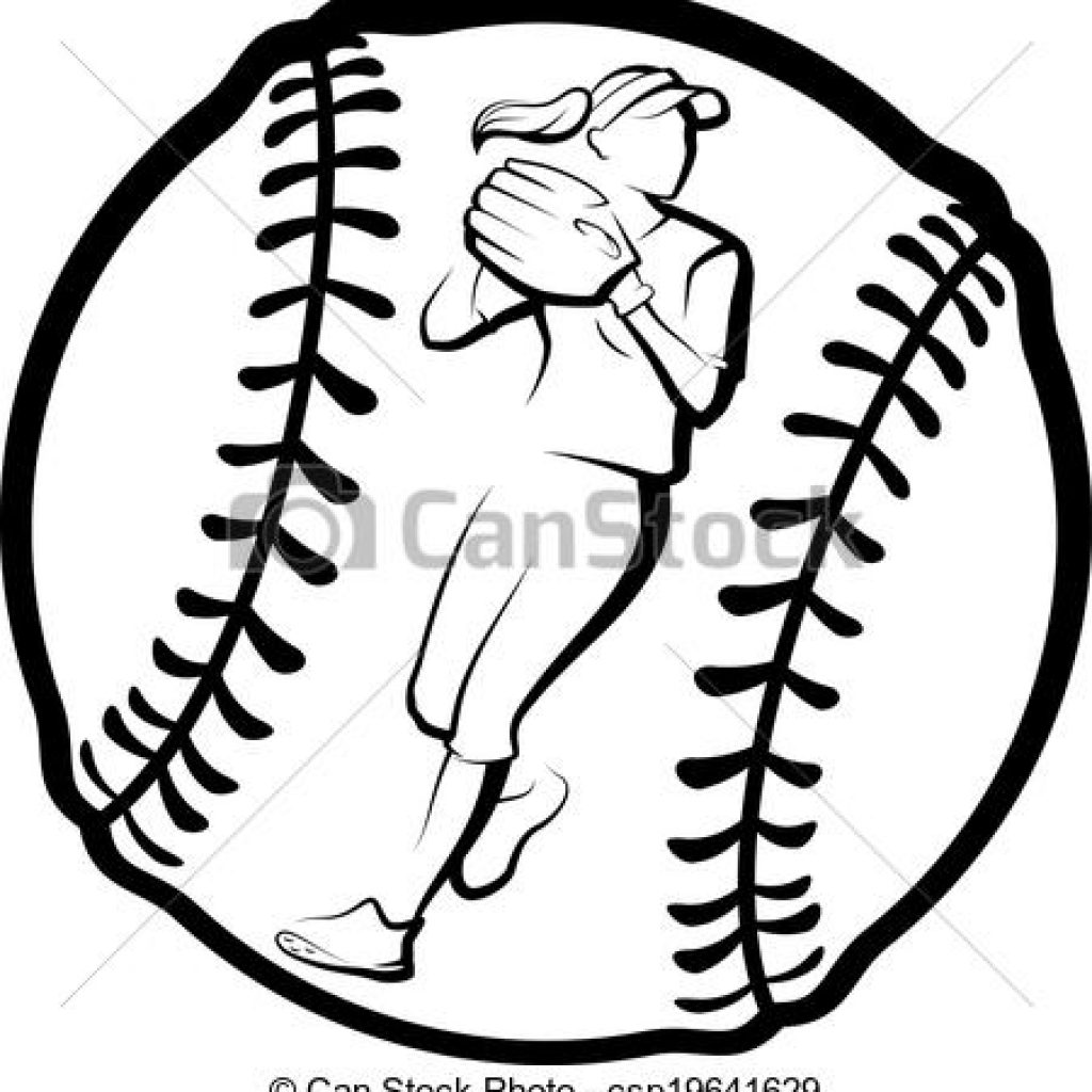 Softball clipart free download image black and white stock Softball Drawing | Free download best Softball Drawing on ... image black and white stock