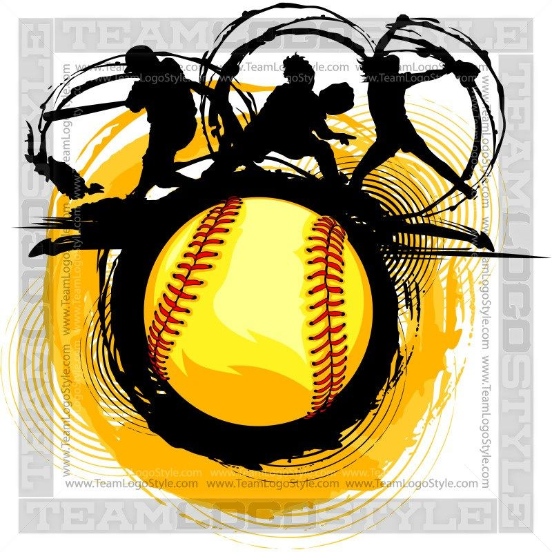 Softball graphics clipart image library Fast Pitch Softball Design - Clip Art Graphic | Softball ... image library