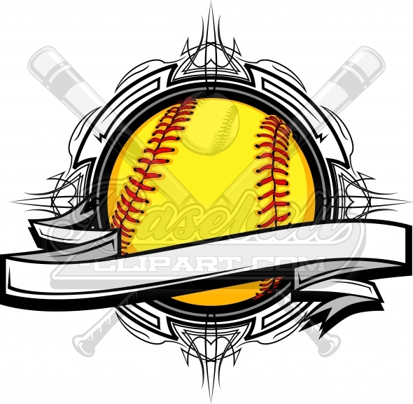 Softball graphics clipart vector library stock Fastpitch Softball Clipart Vector Clipart Image vector library stock