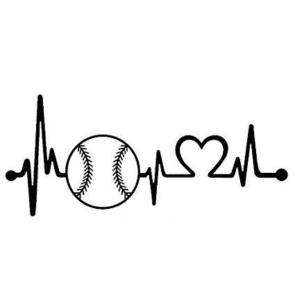 Graven Car- stying Baseball Softball Heartbeat Lifeline Car ... picture royalty free stock