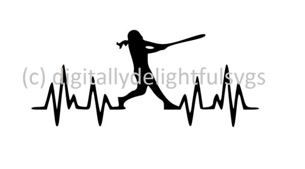 Softball Heartbeat batter svg | Svg files | Softball, Svg ... graphic freeuse download