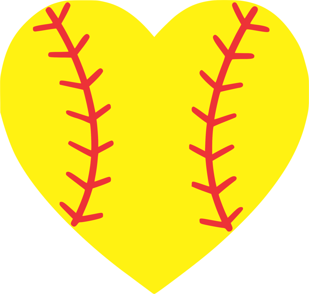 Heartbeat clipart softball, Heartbeat softball Transparent ... svg free stock