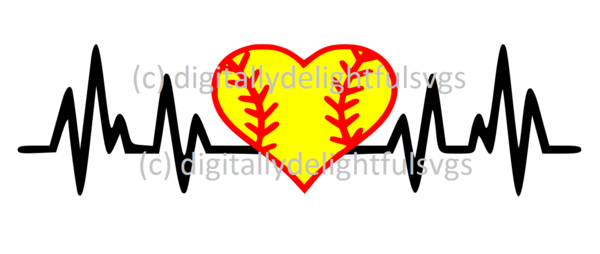 Softball heartbeat svg FREE FOR A LIMITED TIME ONLY!! | Svg ... clip art royalty free stock