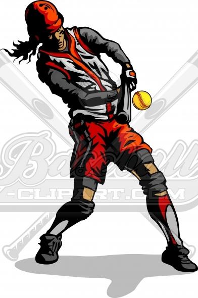 Softball hitter clipart vector transparent stock Softball Hitter Clipart Vector Clipart Image vector transparent stock