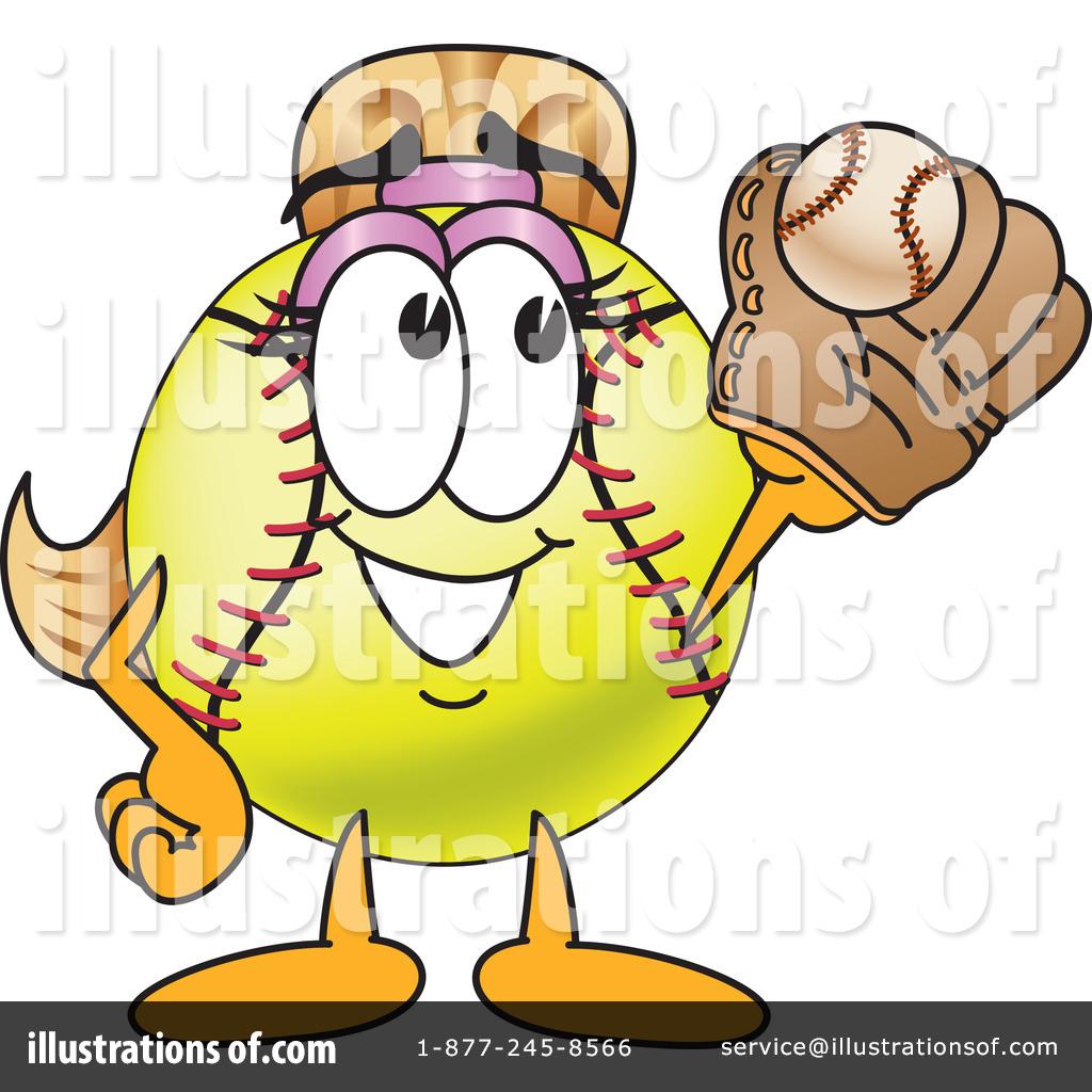 Softball Mascot Clipart #212936 - Illustration by Toons4Biz graphic transparent stock
