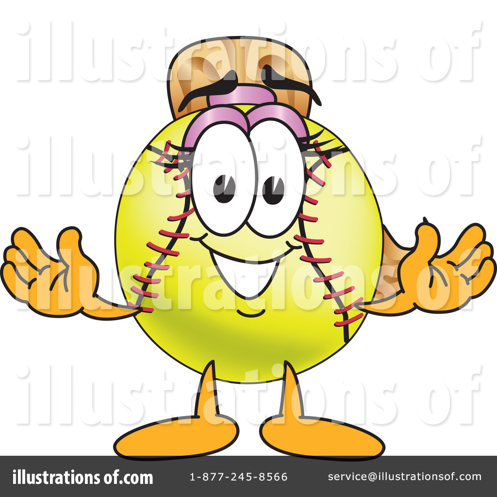 Softball mascots clipart banner freeuse stock Softball Mascot Clipart #212963 - Illustration by Toons4Biz banner freeuse stock