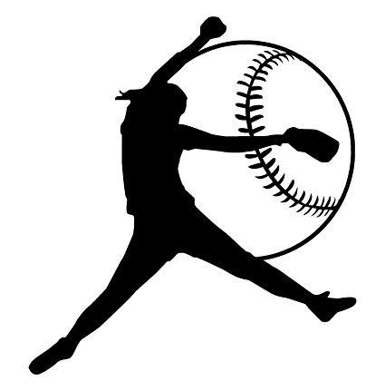 Softball pitcher clipart jpg free Amazon.com: Girls Softball BLACK-Left Hand Softball Pitcher ... jpg free