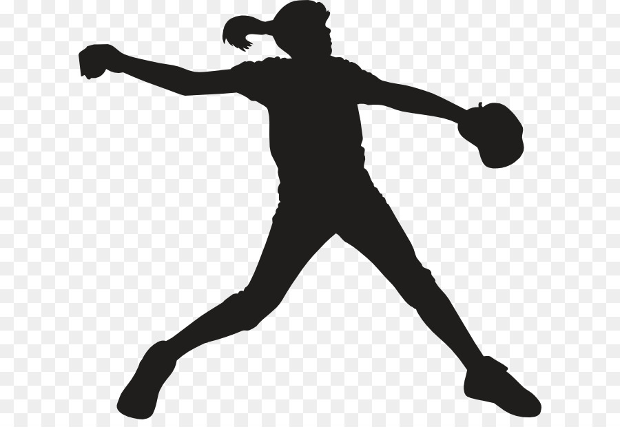 Softball pitcher clipart clip black and white Fastpitch Softball Standing png download - 672*609 - Free ... clip black and white