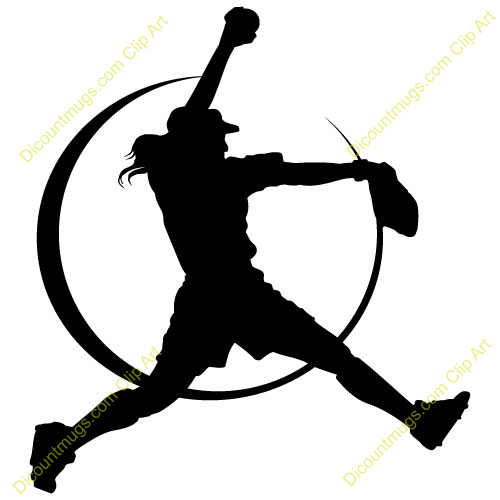 Softball pitcher clipart image black and white stock Softball pitching clipart 1 » Clipart Portal image black and white stock