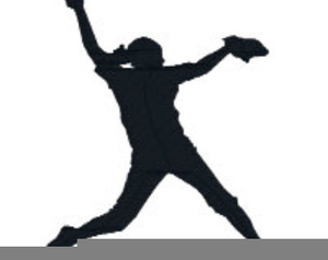 Softball player clipart clip freeuse download Softball Player Silhouette Clipart | Free Images at Clker ... clip freeuse download