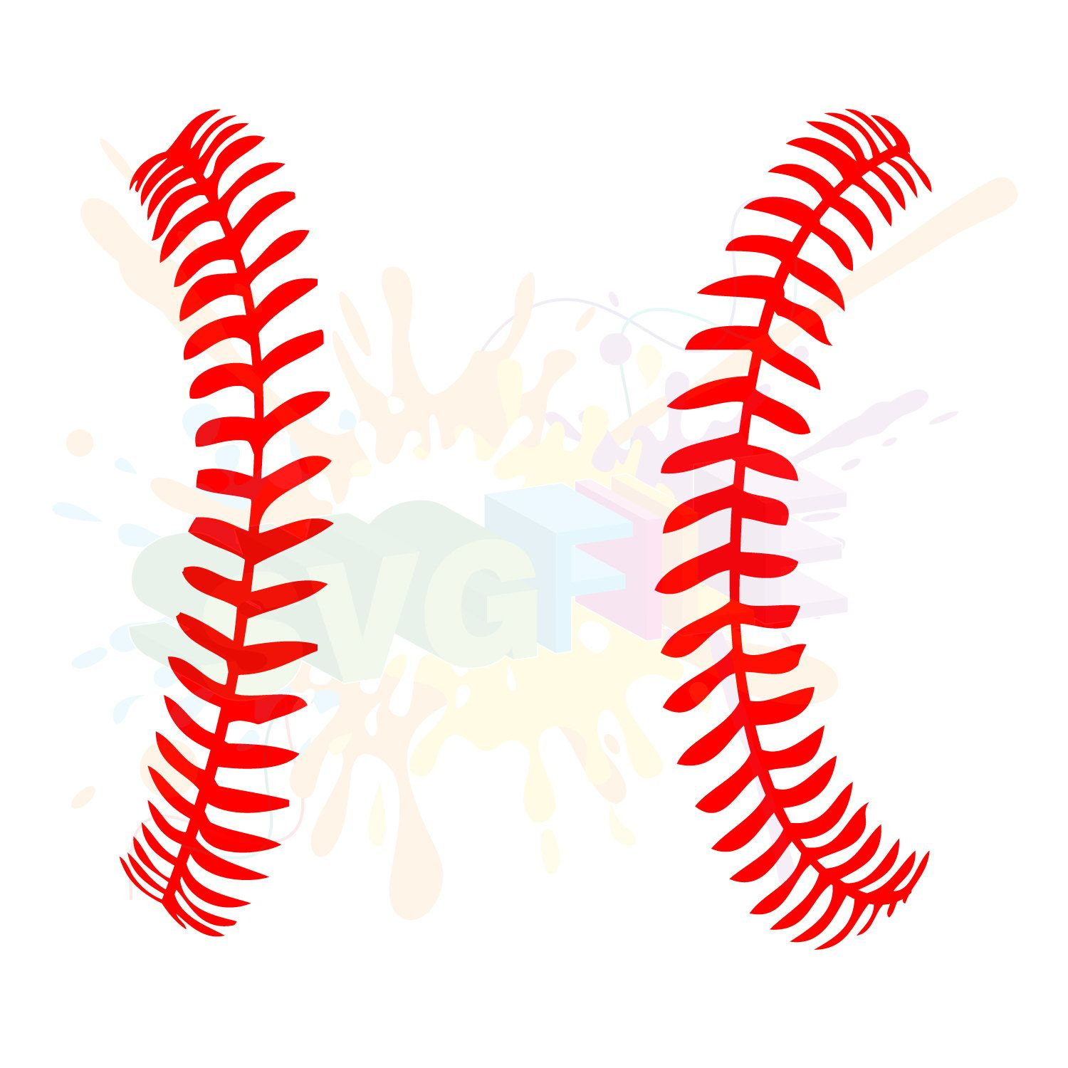 Softball seams clipart png freeuse library Softball Stitches SVG Files for Cutting Baseball Cricut ... png freeuse library