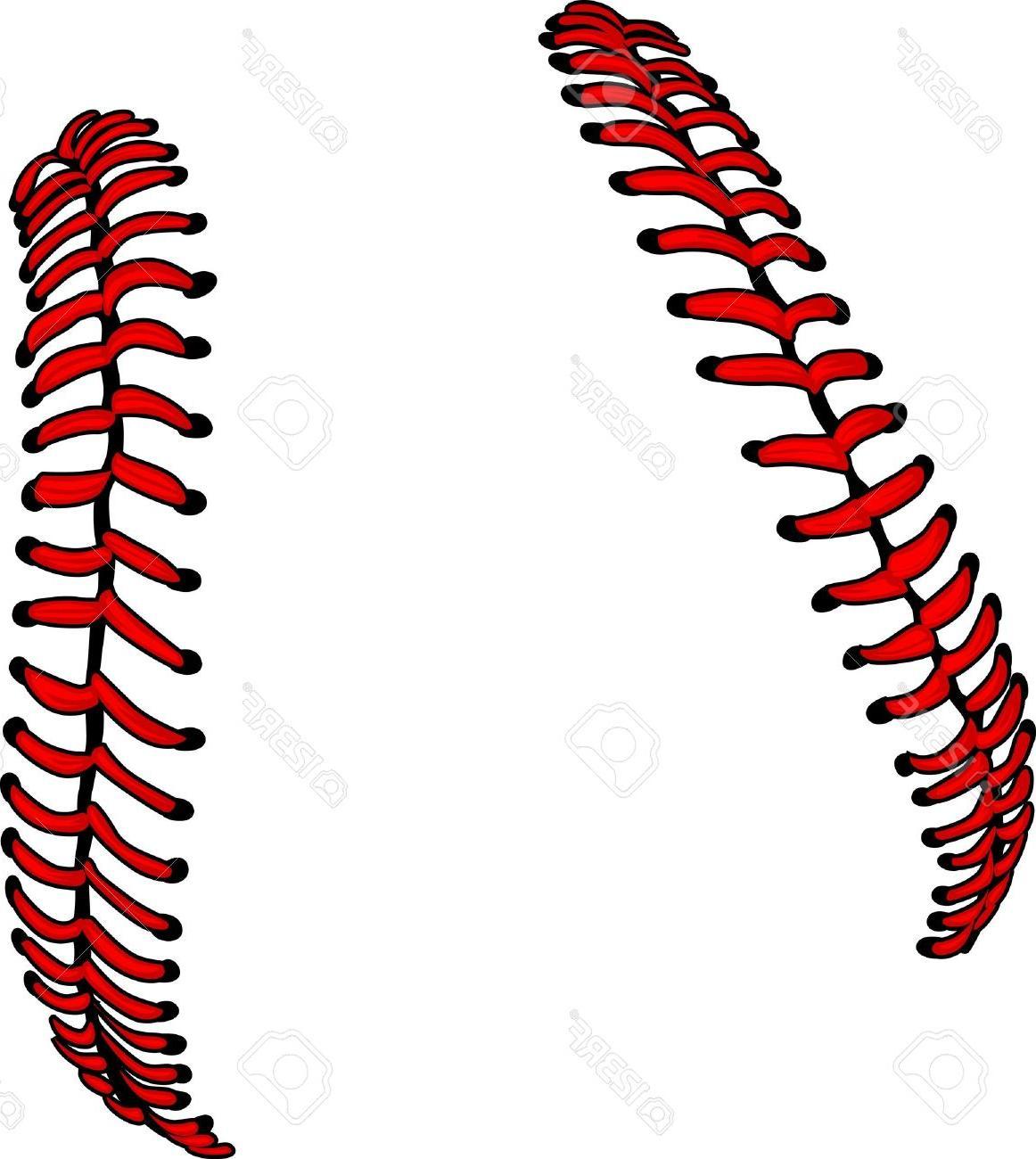 Softball stitches vector clipart clip stock Best Vector Softball Stitches Bow Vector File Free » Free ... clip stock