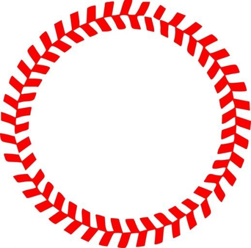 Softball stitches vector clipart image free library Baseball Stitches in a Circle Vector - CDR - Free Graphics ... image free library