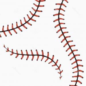 Softball stitches vector clipart jpg stock Lace From Baseball Set Vector Clipart | HandandBeak jpg stock