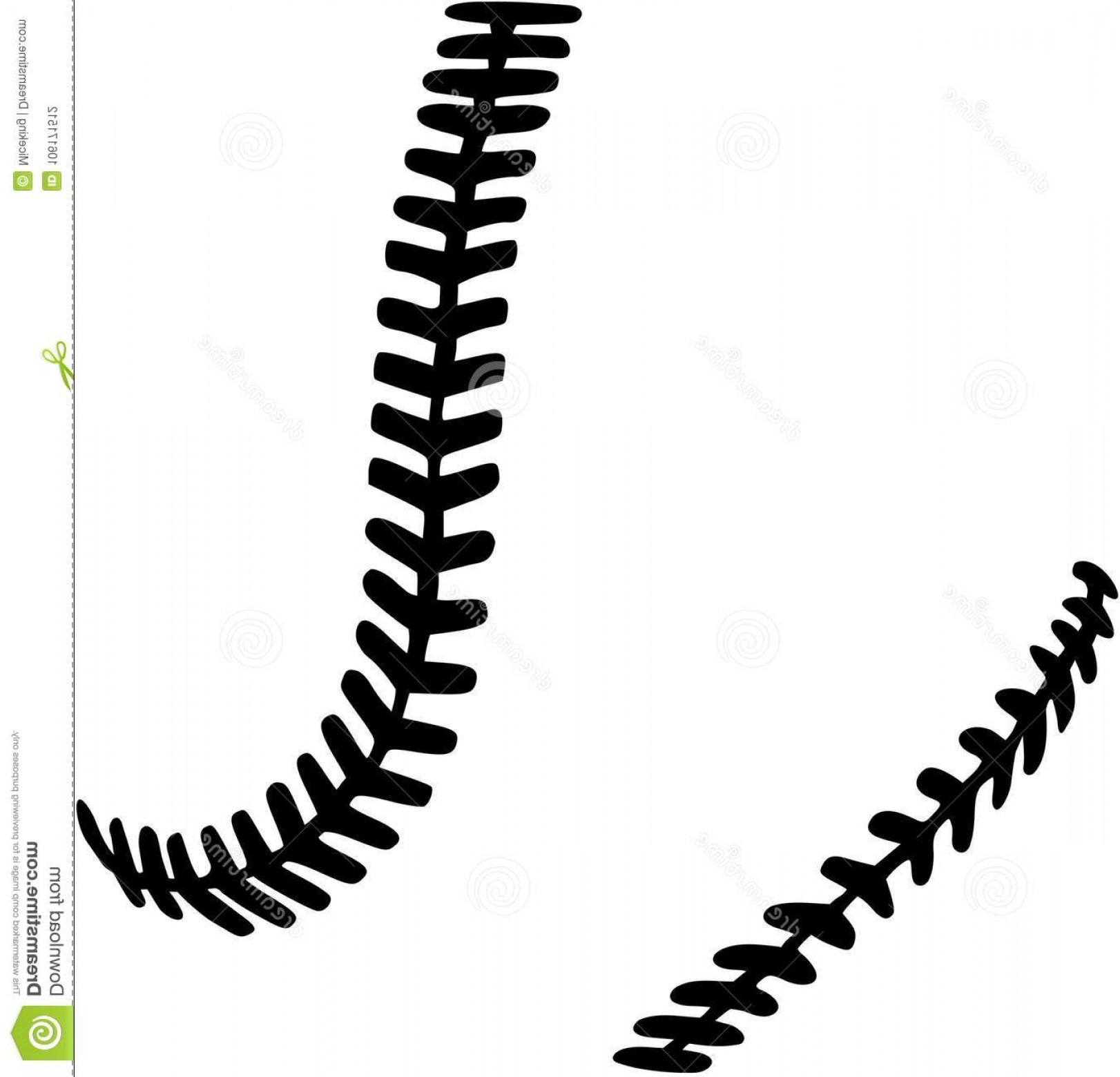 Softball stitches vector clipart banner free Softball Thread Vector | HandandBeak banner free