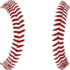 Red Softball Laces Only Clip Art | Baseball | Baseball ... png library download