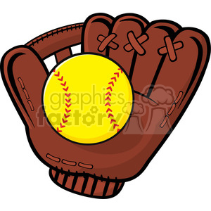 Softball with bat and glove clipart png free baseball glove and yellow softball vector illustration isolated on white  background clipart. Royalty-free clipart # 400204 png free