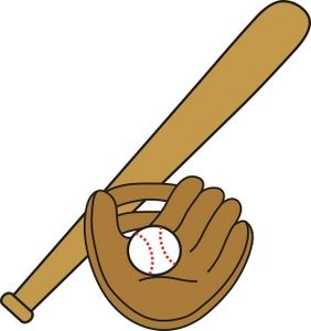 Softball with bat and glove clipart image free Collection of 14 free Bat clipart baseball glove sales ... image free