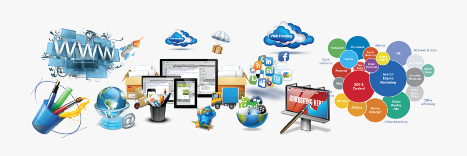 Online Marketing Clipart Digital India - Website And ... graphic transparent stock